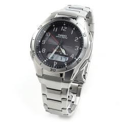 送料無料 カシオ ウェーブセプター 電波ソーラー 腕時計 CASIO メンズ WVA-M640D-1A2JF ブラック