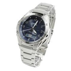 送料無料 カシオ ウェーブセプター 電波ソーラー 腕時計 CASIO メンズ WVA-M640D-2A2JF ネイビー