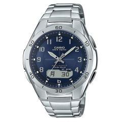 カシオ ウェーブセプター 電波ソーラー 腕時計 CASIO メンズ WVA-M640D-2A2JF ネイビー