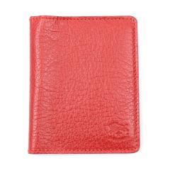 IL BISONTE イルビゾンテレザー 2つ折り カードケース パスケース 411619 F(フリー) レッド(34)