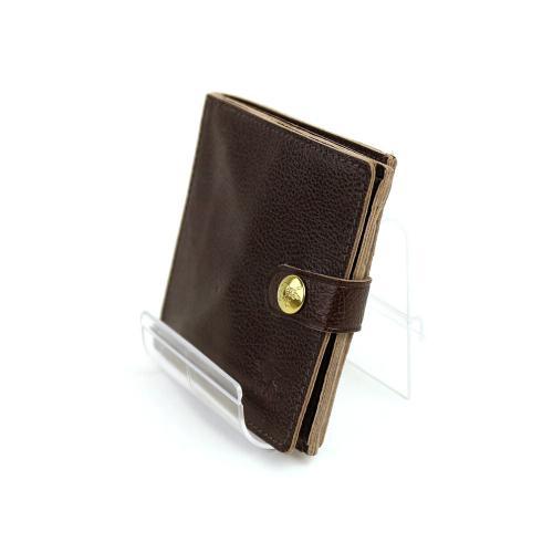 イルビゾンテ IL BISONTEレザー 二つ折り ミニ財布・412228 F(フリー) ミドルグレー(18)