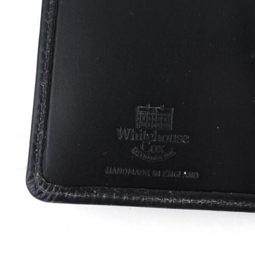 "Whitehouse Cox ホワイトハウスコックス ブライドルレザー 名刺入れ ""BRI NAME CARD CASE"" S7412 F(フリー) NAVY(NVY)"