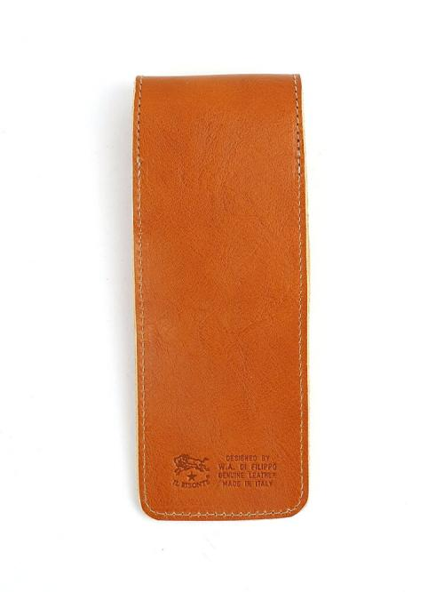 IL BISONTE イルビゾンテ レザー  携帯用 スリム ペンケース 411235 F(フリー) ブラック(35)