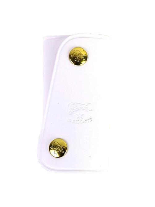 <ロハコ>IL BISONTE イルビゾンテ レザー スナップボタン キーケース 5402300090 F(フリー) ホワイト(36)