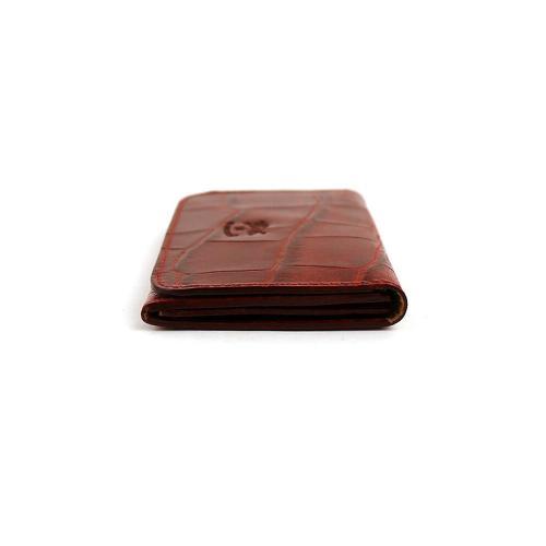 イルビゾンテ IL BISONTE型押し レザー カードケース・5402305593 F(フリー) レッド(39)