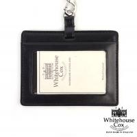 """ホワイトハウスコックス Whitehouse Cox ブライドルレザーIDホルダー""""BRIIDHOLDER"""" S9736 F(フリー) BLACK(BLK)"""