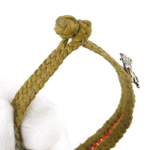 IL BISONTE イルビゾンテ 天然石山羊革ブレスレット 5422317297 F(レディースフリー) ラピス(35)