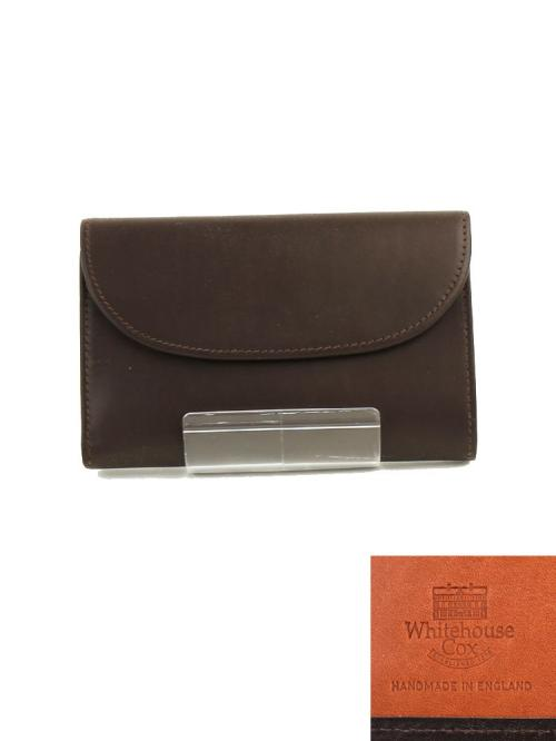 "Whitehouse Cox ホワイトハウスコックス ホースハイド 三つ折り長財布 ""3 FOLD PURSE(DERBY COLLECTION)"" S7660-D F(フリー) BROWN/TAN(BRTA)"