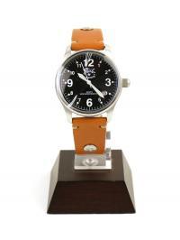 イルビゾンテ IL BISONTEレザー 型押しレザー カレンダー付き クォーツ式 腕時計 リストウォッチ(S) 5422310397-A F(フリー) ブラック×ヤキヌメ(99-45)