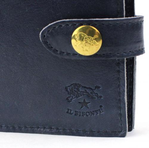 IL BISONTE イルビゾンテ レザーバケッタヴィンテージパスケース付き二つ折り財布 5432409940 F(フリー) ブラウン(66)