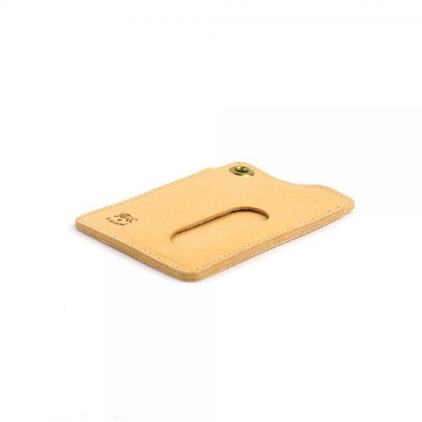 イルビゾンテ IL BISONTE レザー ハトメ付き カードケース パスケース・5412305190  F(フリー) ヌメ(20)