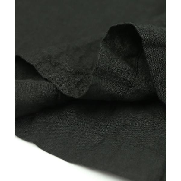 ARMEN アーメン リネン ボートネック 7分袖 ブラウス プルオーバー NAM1463LP 0(S/M) INK NAVY(393)