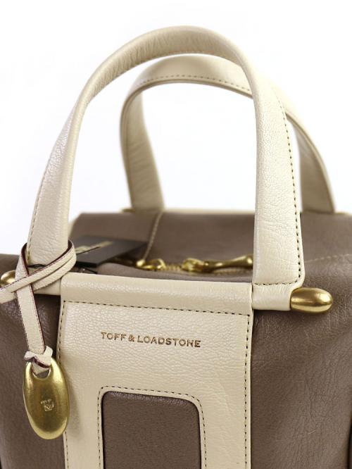 "TOFF&LOADSTONE トフ&ロードストン タンニンゴート キューブ型 トートバッグ ""Arch"" TL-4471  F(フリー) フラッシュオレンジ(FOR)"