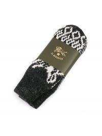 イルビゾンテ IL BISONTE ウール アクリル バッファロー模様編み ニット 手袋 ミトン 5442409180 F(レディースフリー) グレー(97)