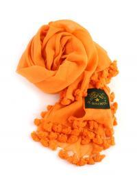 イルビゾンテ IL BISONTE コットン ポンポン ストール 5452404281 F(フリー) オレンジ(66)