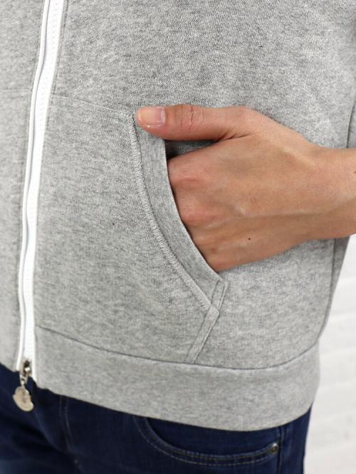 MONCLER モンクレール コットン ポリエステル メッシュ袖切替 ジップアップパーカ 093  M(M) グレー(985)