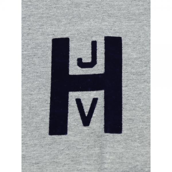 Saintete サンテテ コットン クルーネック 半袖 フロッキープリント ロゴTシャツ カットソー MRH002 0(S/M) ヘザーグレー(HGRY)