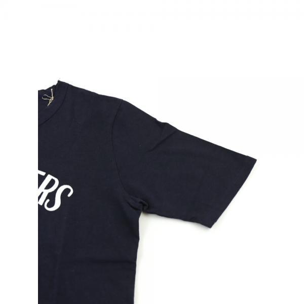 Saintete サンテテ コットン クルーネック 半袖 フロッキープリント ロゴTシャツ カットソー MRH004 1(M/L) インクブルー(IBLU)