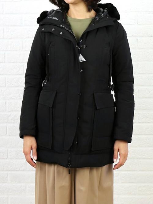 MONCLER モンクレール ポリエステル ラビットファー付き ダウンジャケット CERISIER  0(S/M) カーキ(828)