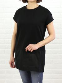 """MONCLER モンクレール コットン 裾切替 チュニック """"ABITO"""" ABITO  S(S) ブラック(999)"""