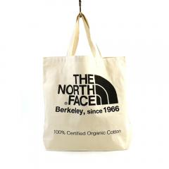 THE NORTH FACE ザ ノースフェイス オーガニックコットン ロゴ トートバッグ NM81616 F(フリー) ナチュラル×ブラック(NK)