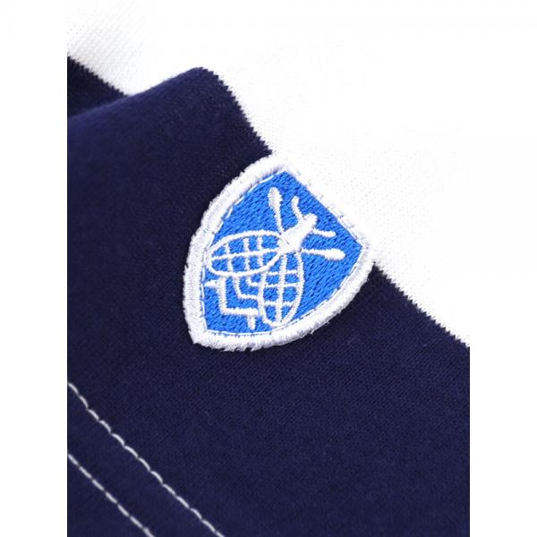 ORCIVAL オーチバル・オーシバル コットン天竺 ワイドボーダー 半袖 ボートネック Tシャツ ワイドカットソー RC-6829-65ST 1(S/M) WHITE/LT.BEIGE(WHBE)