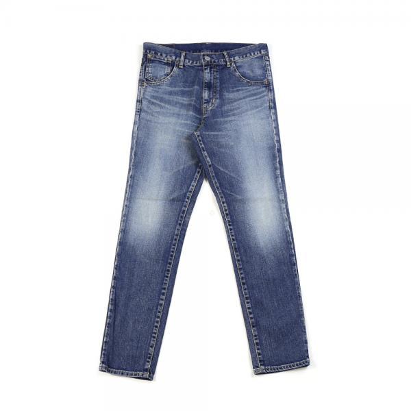 DEEP BLUE ディープブルー ストレッチデニム スリムテーパード 5ポケット デニムパンツ ジーンズ 73979 L(L) ミディアムブルー(4)