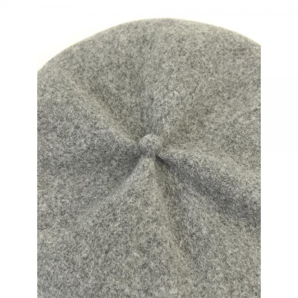 mature ha. マチュア/マチュアーハ ウール ギャザー リブ配色 ベレー帽 MKF-2111TT F(フリー) グレー×チャコール(GYCHA)