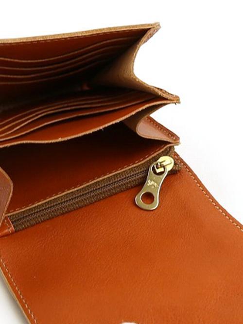 IL BISONTE イルビゾンテ レザー 二つ折り 財布 54162309440 F(フリー) ダークブラウン(32)