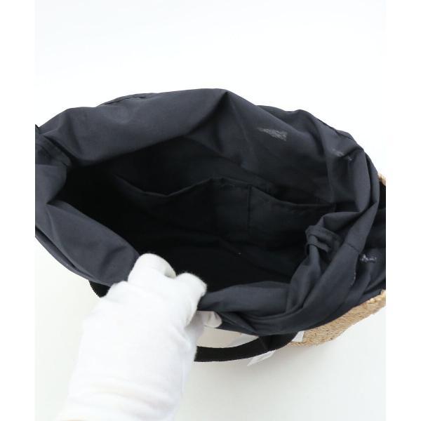 Anjou Chouette アンジュシュエット   かごバッグ トートバッグ S61061 F(フリー) ナチュラル×ブラック(NABK)