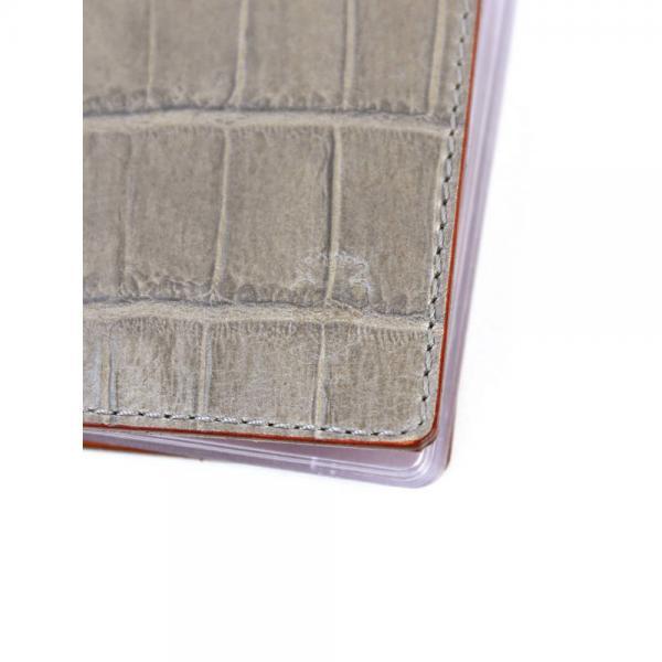 Felisi フェリージ クロコ型押し エンボスレザー  名刺入れ カードケース 100/SA 100-SA F(フリー) D.BROWN(002)