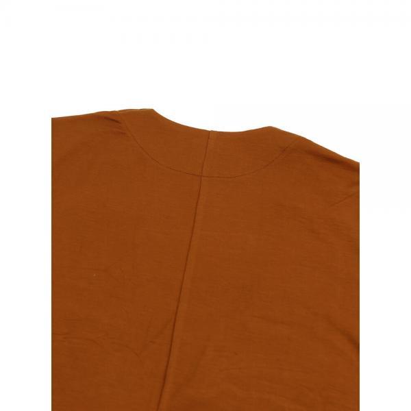 PUPULA ププラ テンセル混 長袖 ロング カーディガン 373030 38(M) ダークブラウン(30)
