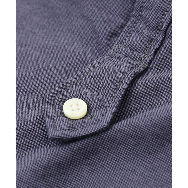 DANA FANEUIL ダナファヌル コットンオックスフォード ワンピースカラー 長袖 ロングシャツ チュニックシャツ D-6317317 2(M) ホワイト(10)