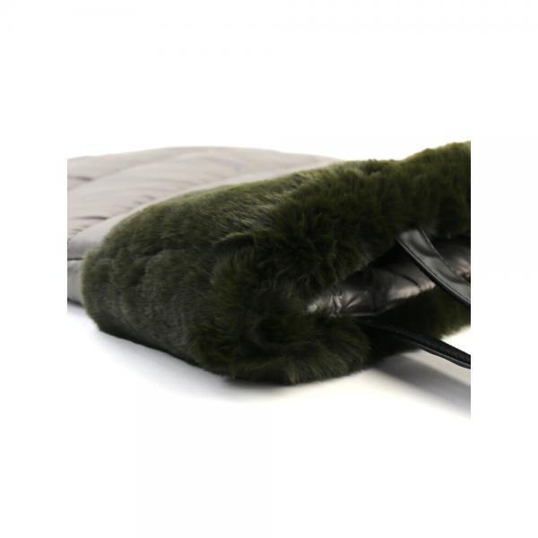 a jolie アジョリー  ファー 中綿 トートバッグ 161221-10 F(フリー) グレー(GY)