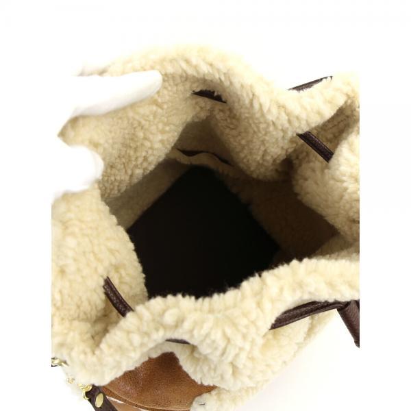 a jolie アジョリー アクリル混 2WAY 巾着型 ボア ショルダーバッグ リュック 161221-17 F(フリー) グレー(GY)