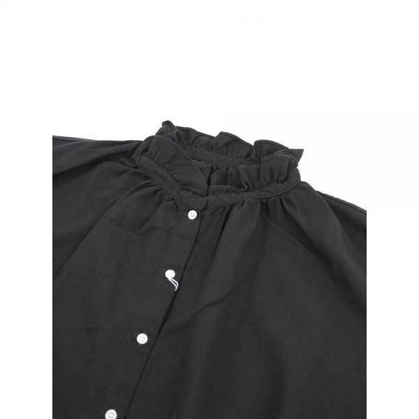 style+confort スティールエコンフォール コットンウール 襟フリル ワイド 長袖 ブラウス 702-60403 2(M) white(1)
