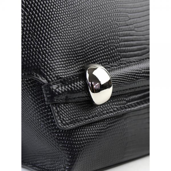 TOFF&LOADSTONE トフアンドロードストーン リザード型押しレザー 2WAY ハンドバッグ ショルダーバッグ ポリッシュリザード TL-5440 F(フリー) ブラック(BK)