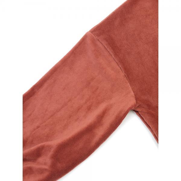 PAR ICI パーリッシィ ライトコーデュロイ ボリューム袖 プルオーバー カットソー 50-01CT005-17-2 F(フリー) ベージュ(03)