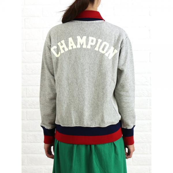 チャンピオン Champion コットン リバースウィーブ スナップ ワッペン スウェットシャツ CW-L006 M(7~9号) オックスフォードグレー(070)