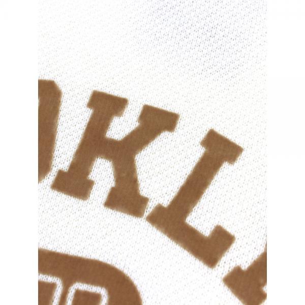 チャンピオン Champion コットン クルーネック フロッキープリント  ボア袖 スウェットシャツ プルオーバー CW-L015 M(7~9号) オフホワイト(020)