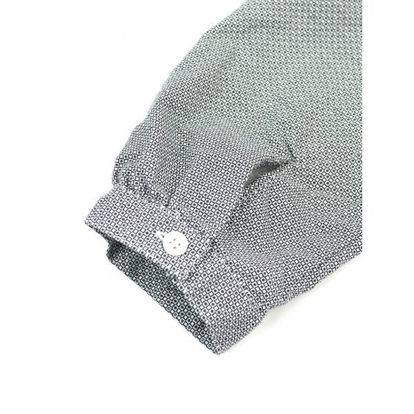style+confort スティールエコンフォール コットン リボン 長袖 プリント シャツ 702-61111 2(M) small flower(4)
