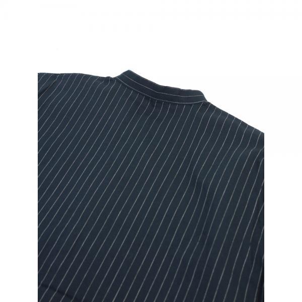 style+confort スティールエコンフォール コットン ストライプ 長袖 ロングシャツ チュニック 702-61413 2(M) white×navy(4)