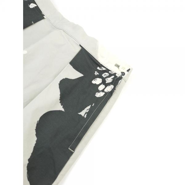 grin グリン コットン混 リクリアプリント タック ロングスカート 8174S-003 2(M) イエロー(244)