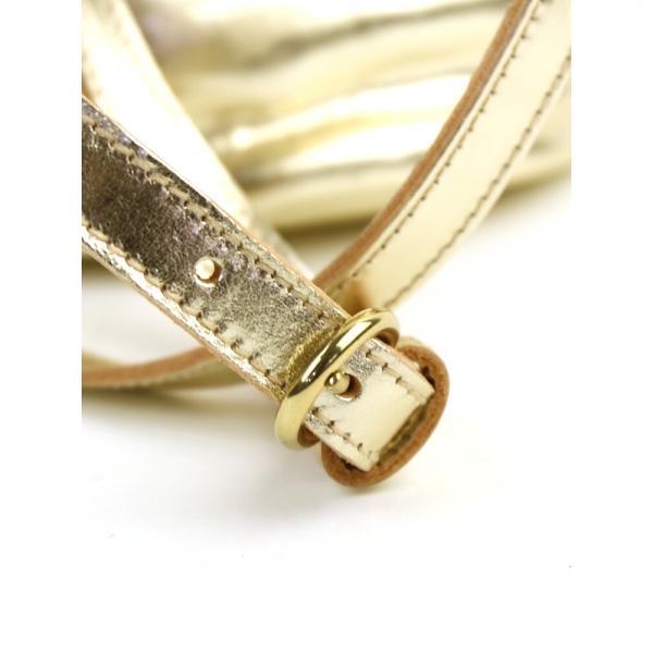 イルビゾンテ IL BISONTE メタリックレザー タッセル付き 巾着 ショルダーバッグ 54172308311 F(フリー) プラチナ(42)