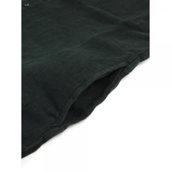 a koloni コロニー リネン ヘリンボーン オールインワン サロペット 17051000 F(フリー) ブラック(BLK)