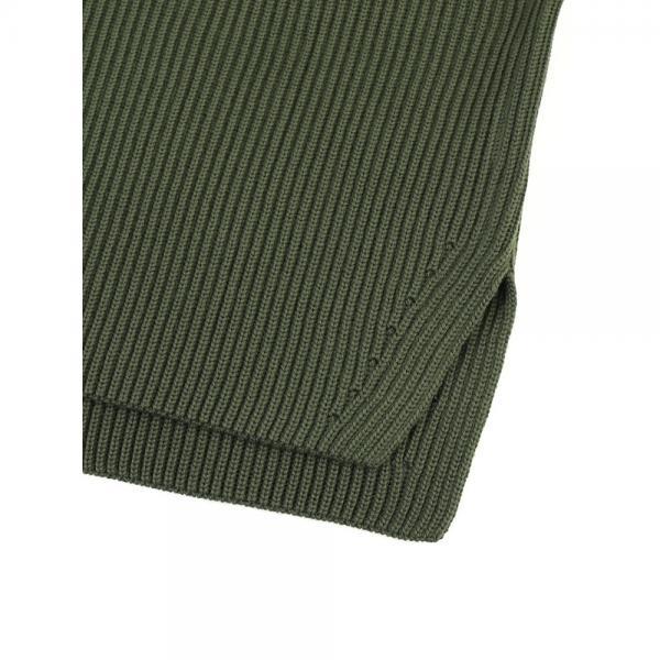 ORCIVAL オーチバル・オーシバル ウール カーディガンステッチ パッチ リブ ニット セーター プルオーバー RC-4265 1(S/M) M.GREY(MGRY)