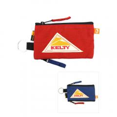 KELTY ケルティ コーデュラナイロン フラット ポーチ DICK FES POUCH D-FESPOUCH F(フリー) NEW RED×NEW BLUE(RDBL)