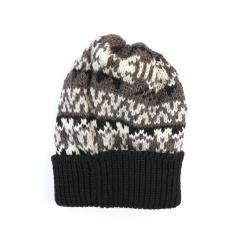 HIGHLAND2000 ハイランド2000 ウール フェアアイル ニット キャップ 帽子 NHL1771 F(フリー) BLACK(990)