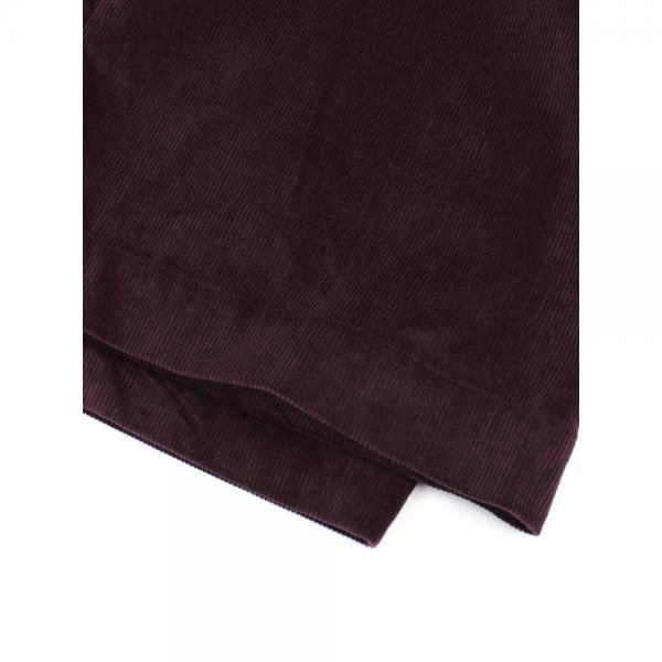 ara・ara アラ・アラ コットン混 コーデュロイ ベルト付き ハイライズ ワイドパンツ 174024 2(M/L) ボルドー(018)