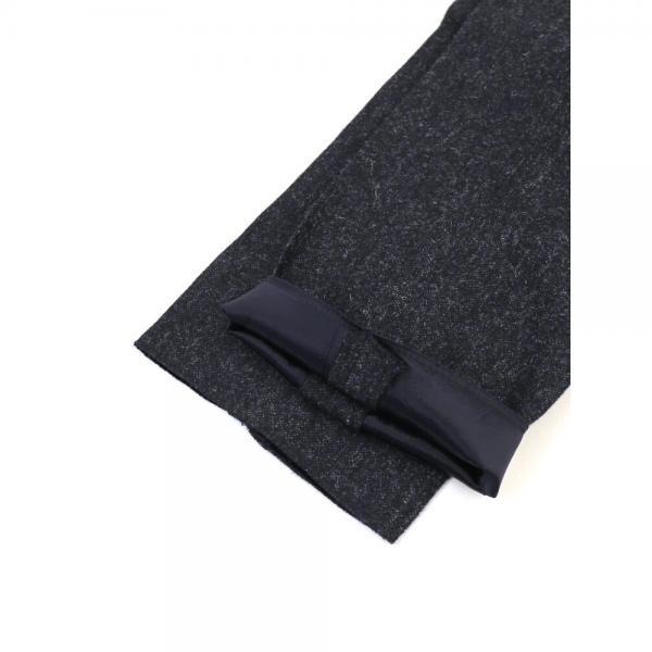 TOMORROWLAND トゥモローランド ウール センタープレス パンツ スラックス 61-04-74-04502 50(メンズL) ネイビー(67)